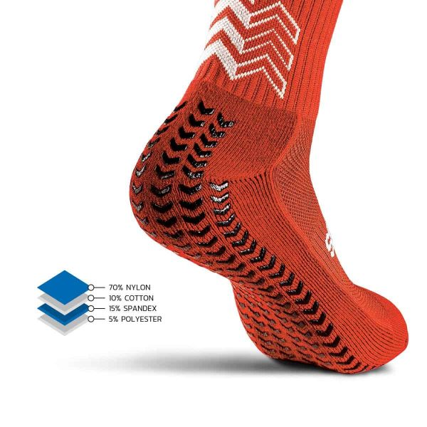Soxpro | Classic Anti Slip Socks | Red